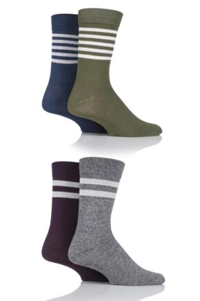Mens 4 Pair Jack & Jones Sporty Cotton Socks