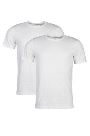 Mens 2 Pack Jack & Jones Crew Neck Cotton T-Shirts
