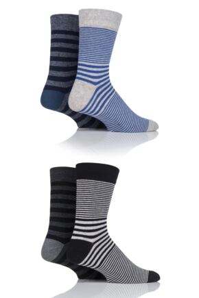 Mens 4 Pair Jack & Jones Jactank Socks Light Grey Melange / Dark Grey
