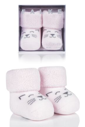 Babies 1 Pair Falke Baby Bear and Baby Cat Cotton Socks