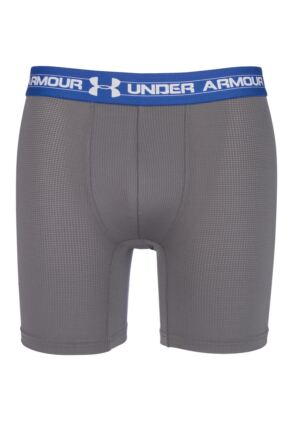 Mens 1 Pack Under Armour Mesh Series BoxerJock 6-Inch Inseam Boxers 33% OFF Graphite S
