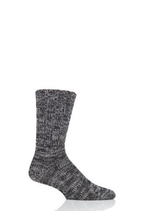 Mens 1 Pair Falke Brooklyn Organic Cotton Heavy Weight Socks