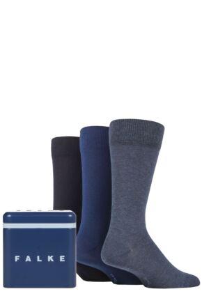 Mens 3 Pair Falke Gift Boxed Cotton Socks