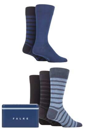 Mens 5 Pair Falke Gift Boxed Cotton Socks