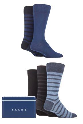 Mens 5 Pair Falke Gift Boxed Cotton Socks
