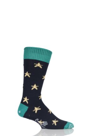 Mens 1 Pair Corgi 100% Cotton Stars Socks