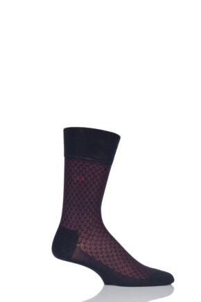 Mens 1 Pair Falke Cotton Keypad Patterned Socks