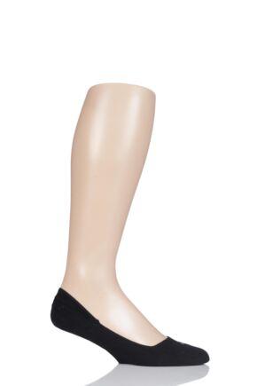 Mens 1 Pair Falke Cool 24/7 Cotton Invisible Socks Black 47-48