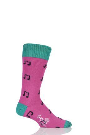 Mens 1 Pair Corgi 100% Cotton Music Notes Socks Clematis M