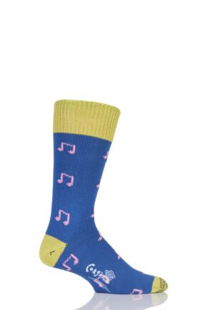 Corgi 100% Cotton Music Notes Socks