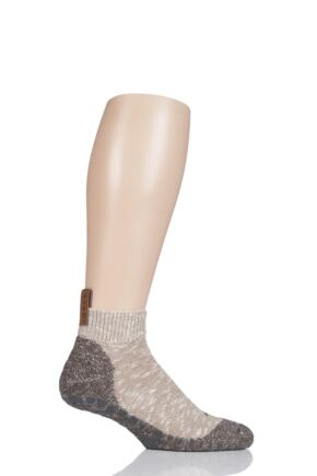 Mens 1 Pair Falke Lodge Homepad Cotton Socks with Grips Sesame 41-42