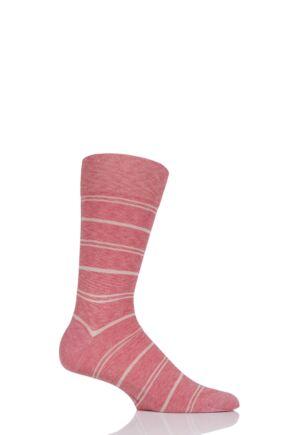 Mens 1 Pair Falke Striped Wash Cotton Socks