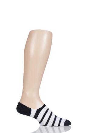 Mens 1 Pair Falke Even Stripe Cotton Invisible Socks