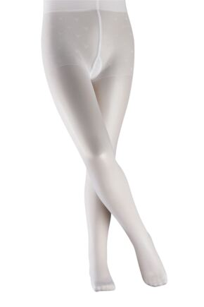 Girls 1 Pair Falke Pure Matt 30 Denier Tights White 110-116