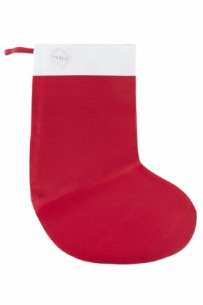 SockShop Plain Red Christmas Stocking Red
