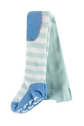 Babies 1 Pair Falke Stripey Crawler Tights Mint 62-68