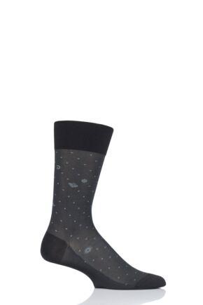 Mens 1 Pair Falke Milky Way High Shine Silky Viscose Socks