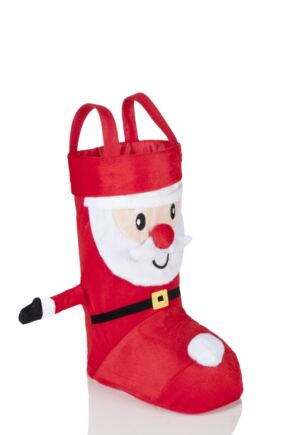 SockShop 3D Santa Christmas Stocking Bag Red
