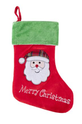 SockShop Santa Merry Christmas Christmas Stocking Red