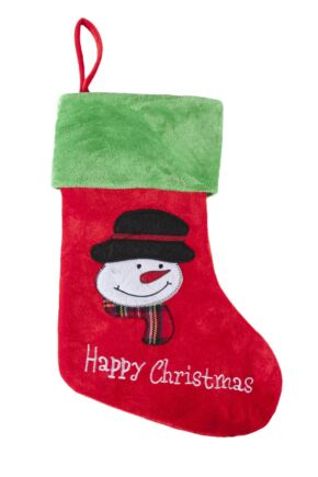 SockShop Snowman Happy Christmas Christmas Stocking Red