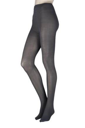 Ladies 1 Pair SockShop Anti-Cellulite 40 Denier Opaque Tights Charcoal