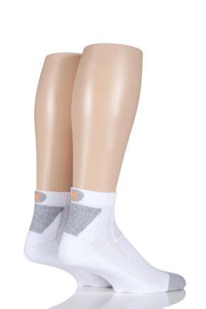 Mens and Ladies 2 Pair Puma CoolMax Performance Multi Sports Quarter Socks White 6-8