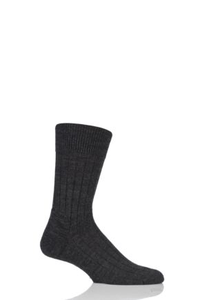 Mens 1 Pair Falke Teppich Im Schuh 'Carpet In Shoe' Virgin Wool Ribbed Socks