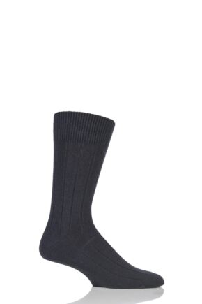 Mens 1 Pair Falke Lhasa Rib Cashmere Blend Casual Socks