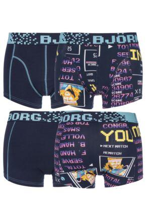 Mens 2 Pack Bjorn Borg High Score Computer Game Boxer Shorts