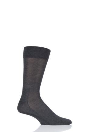 Mens 1 Pair Falke Sensitive Malaga with Pressure Free Top Socks