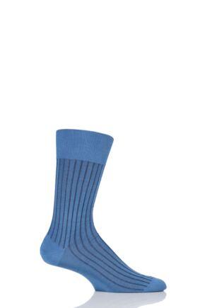 Mens 1 Pair Falke Shadow 95% Fil d'Ecosse Cotton Ribbed Socks