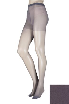 Ladies 1 Pair Elle Tights 15 Denier 100% Nylon French Grey