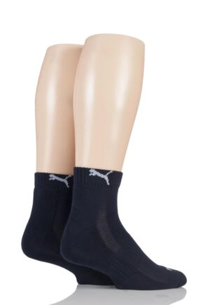 Mens and Ladies 2 Pair Puma Quarter Socks
