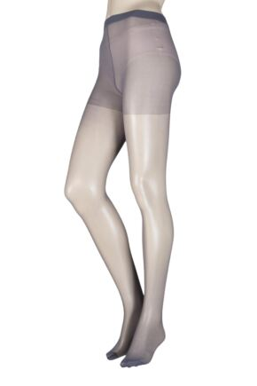 Ladies 1 Pair Elle Tights 15 Denier 100% Nylon French Grey