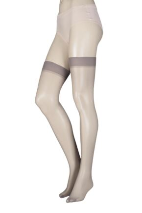 Ladies 1 Pair Elle Stockings 15 Denier 100% Nylon Grey smoke