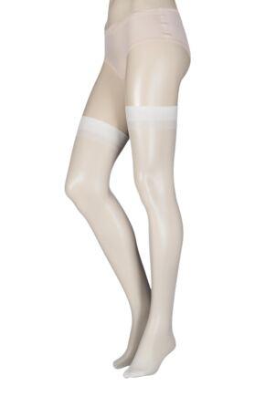 Ladies 1 Pair Elle Stockings 15 Denier 100% Nylon Satin