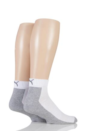 Mens and Ladies 2 Pair Puma Coolmax Technical Quarter Length Socks