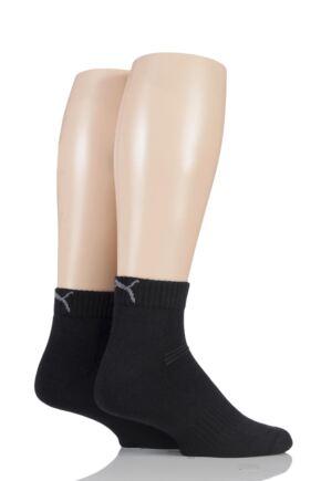 Mens and Ladies 2 Pair Puma Coolmax Technical Quarter Length Socks