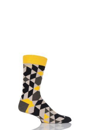 Mens 1 Pair Bjorn Borg Diamond Tiles Cotton Socks Khaki 6-11