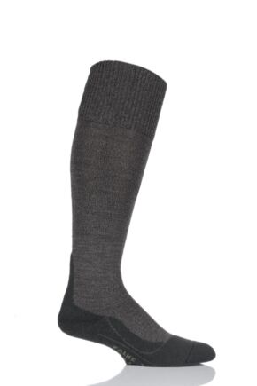 Mens 1 Pair Falke Trekking Wool Knee High Cushioned Boot Socks Olive 37-38
