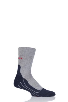 Mens 1 Pair Falke RU4 Cushioned Wool Sports Crew Socks