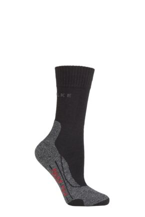 Ladies 1 Pair Falke TK2 Medium Volume Ergonomic Cushioned Trekking Socks