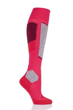 Ladies 1 Pair Falke SK4 Medium Volume Wool Ski Socks