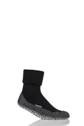 Mens 1 Pair Falke Cosyshoe Virgin Wool Home Socks