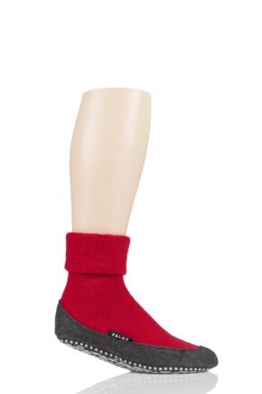 Mens 1 Pair Falke Cosyshoe Virgin Wool Home Socks Fire 10-11 Mens