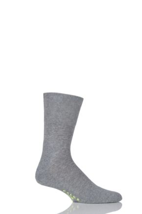 Mens and Ladies 1 Pair Falke Sport Spirit Run Crew Socks Light Grey Melange 44-45