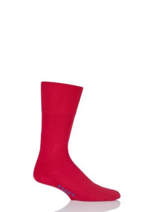 Mens and Ladies 1 Pair Falke Sport Spirit Run Crew Socks Scarlet 37-38