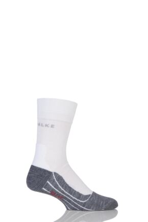 Mens 1 Pair Falke RU4 Cool Volume Ergonomic Cushioned Crew Running Socks
