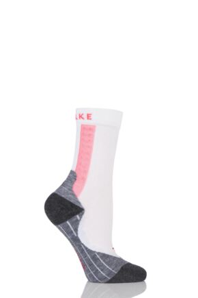Ladies 1 Pair Falke RU Achilles Socks with Achilles Massage Nodes White 39-40