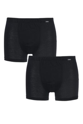 Mens 2 Pair Jockey Active Cotton Trunks